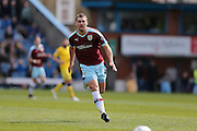 Burnley forward Sam Vokes (9)  during the Sky Bet Championship match between Burnley and Leeds United at Turf Moor, Burnley, England on 9 April 2016. Photo by Simon Davies.
