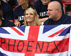 27.07.2010, Wetzlar Stadion, Wetzlar, GER, Football EM 2010, Team France vs Team Great Britain, im Bild Fans von Team Great Britain,  EXPA Pictures © 2010, PhotoCredit: EXPA/ T. Haumer