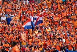 07-07-2019 FRA: Final USA - Netherlands, Lyon<br /> FIFA Women's World Cup France final match between United States of America and Netherlands at Parc Olympique Lyonnais. USA won 2-0 / Orange Oranje support