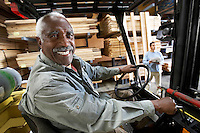 Forklift Driver in Lumber Warehouse
