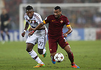 Uefa Champions League-2014-2015 / Group E / <br /> As Roma vs Fc Bayern Munich 1-7  ( Olympic Stadium, Roma - Italy ) <br /> Ashley Cole of As Roma (R) challenges with Jerome Boateng of Fc Bayern Munich (L) ,<br /> during the match between As Roma and Fc Bayern Munich