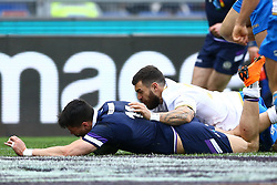 March 17, 2018 - Rome, Italy - Rugby NatWest 6 Nations: Italy v Scotland.Sean Maitland of Scotland scores a try at Olimpico Stadium in Rome, Italy on March 17, 2017. (Credit Image: © Matteo Ciambelli/NurPhoto via ZUMA Press)