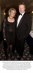 MR & MRS RORY BREMNER, he is the comedian, at a dinner in London on 5th March 2001.OLU 48