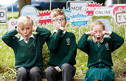 Repro Free: 07/06/2017 Henry Cronin (7), Michael O' Neill (7) and Emma Lidierth (7) pupils of St. Vincent de Paul Infant School, Griffith Avenue, Dublin are pictured as safefood launch a new free educational resource to help teach primary schoolchildren about the media, advertising and fake news. The launch was also attended by the Minister for Education and Skills, Richard Bruton T.D.. Picture Andres Poveda<br /> <br /> ENDS<br /> Media contact <br /> Emma Walsh, T: 087 317 0897 or E: emma.walsh@ogilvy.com