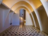 BARCELONA, SPAIN - CIRCA MAY 2018: Interior of Casa Batlló, a famous building in the center of Barcelona designed by Antoni Gaudi. View of the Loft.