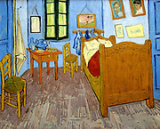 Vincent Van Gogh (1853 – 1890) Dutch post-Impressionist painter. Van Gogh suffered from mental illness and died from a self-inflicted gunshot wound. 'Bedroom at Arles', 1889