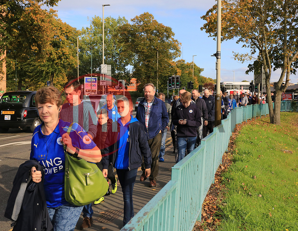 Leicester City fans make their way to The King Power Stadium - Mandatory by-line: Paul Roberts/JMP - 23/09/2017 - FOOTBALL - King Power Stadium - Leicester, England - Leicester City v Liverpool - Premier League