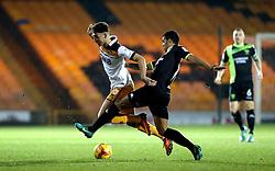 Tyler Walker of Port Vale is tackled by Jacob Mellis of Bury - Mandatory by-line: Robbie Stephenson/JMP - 20/01/2017 - FOOTBALL - Vale Park - Stoke-on-Trent, England - Port Vale v Bury - Sky Bet League One