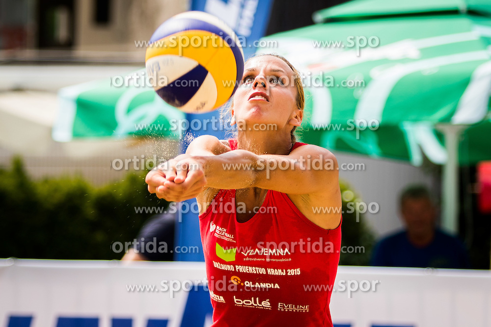 Jelena Pesic of team Ana in Jelena during Qlandia Beach Challenge 2015 and Beach Volleyball Slovenian National Championship 2015, on July 25, 2015 in Kranj, Slovenia. Photo by Ziga Zupan / Sportida