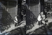 father with toddler Japan ca 1940s