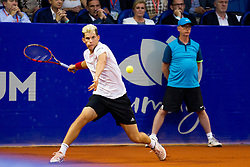 Dominic Thiem (AUT) during a tennis match against the Joao Sousa (POR) in final round of singles at 26. Konzum Croatia Open Umag 2015, on July 26, 2015, in Umag, Croatia. Photo by Urban Urbanc / Sportida