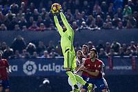Club Atletico Osasuna's goalkeeper Salvatore Sirigu in action during the match of La Liga between Club Atletico Osasuna and Real Madrid  at El Sadar Stadium in Pamplona, Spain. February 11, 2017. (ALTERPHOTOS/Rodrigo Jimenez)