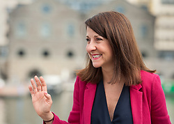 © Licensed to London News Pictures. 16/08/2015. Bristol, UK.  LIZ KENDALL, one of the four Labour leadership candidates, arrives in Bristol to give a talk to Labour supporters at the Great Eastern Hall, next to the SS Great Britain in Bristol City Harbourside. Photo credit : Simon Chapman/LNP