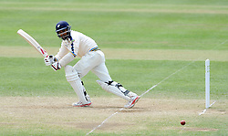 Yorkshire's Adil Rashid flicks the ball. Photo mandatory by-line: Harry Trump/JMP - Mobile: 07966 386802 - 27/05/15 - SPORT - CRICKET - LVCC County Championship - Division 1 - Day 4 - Somerset v Yorkshire - The County Ground, Taunton, England.