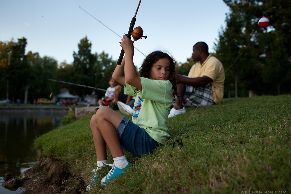 Sophie Allison Chapman competes in the Little Balkans Days fishing derby, Sep. 5, 2010.