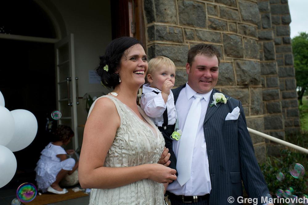 Stoffberg, Mpumalanga, South Afruca, Jan 15, 2012. Jan Botha and Naas Boshoff marry at the NG Kerg Stoffberg. Greg Marinovich / Storytaxi