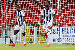 Saido Berahino and Victor Anichebe of West Brom - Mandatory byline: Rogan Thomson/JMP - 07966 386802 - 25/07/2015 - SPORT - Football - Swindon, England - The County Ground - Swindon Town v West Bromwich Albion - 2015/16 Pre Season Friendly.
