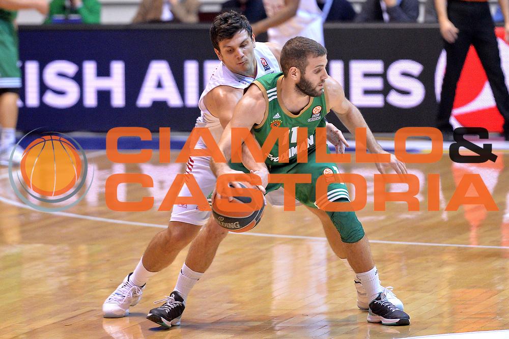 DESCRIZIONE : Desio Eurolega Euroleague 2014-15 EA7 Emporio Armani Milano vs Panathinaikos Atene <br /> GIOCATORE : Alessandro Gentile<br /> CATEGORIA : Stoppata<br /> SQUADRA : EA7 Emporio Armani Milano<br /> EVENTO : Eurolega Euroleague 2014-2015 GARA : EA7 Emporio Armani Milano vs Panathinaikos Atene <br /> DATA : 11/12/2014 <br /> SPORT : Pallacanestro <br /> AUTORE : Agenzia Ciamillo-Castoria/I.Mancini<br /> Galleria : Eurolega Euroleague 2014-2015 Fotonotizia : Milano Eurolega Euroleague 2014-15EA7 Emporio Armani Milano vs Panathinaikos Atene <br /> Predefinita :