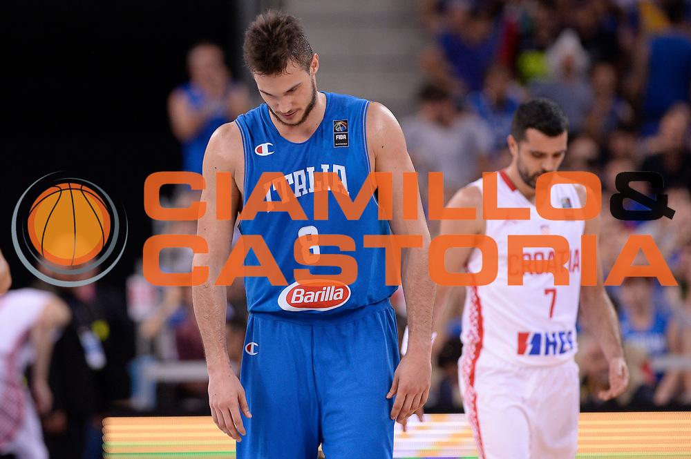 DESCRIZIONE: Torino Turin 2016 FIBA Olympic Qualifying Tournament Finale Final Italia Croazia Italy Croatia<br /> GIOCATORE : Danilo Gallinari<br /> CATEGORIA : delusione<br /> SQUADRA : Italia Italy<br /> EVENTO : 2016 FIBA Olympic Qualifying Tournament <br /> GARA : 2016 FIBA Olympic Qualifying Tournament Finale Final Italia Croazia Italy Croatia<br /> DATA : 09/07/2016<br /> SPORT: Pallacanestro<br /> AUTORE : Agenzia Ciamillo-Castoria/Max.Ceretti <br /> Galleria : 2016 FIBA Olympic Qualifying Tournament <br /> Fotonotizia : Torino Turin 2016 FIBA Olympic Qualifying Tournament Finale Final Italia Croazia Italy Croatia<br /> Predefinita :