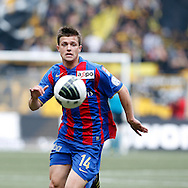 FC Basel midfielder Valentin Stocker follows the ball during the Super League (National League A) soccer match between BSC Young Boys (YB) and FC Basel (FCB) at the Stade de Suisse stadium in Bern, Switzerland, Sunday, Mai 16, 2010. FC Basel have won the Swiss football championship beating Young Boys of Bern 2-0 in the last match of the season. (Photo by Patrick B. Kraemer / MAGICPBK)