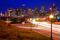 Downtown Denver.  Speer Avenue @ Night.
