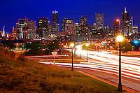 Downtown Denver.  Speer Avenue @ Night.
