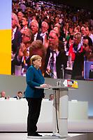 DEU, Deutschland, Germany, Hamburg, 07.12.2018: Bundeskanzlerin Dr. Angela Merkel (CDU) während ihrer letzten Rede als CDU-Vorsitzende beim Bundesparteitag der CDU in der Messe Hamburg.