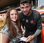 Nadir Ciftci signs an autograph - Dundee United open day at Tannadice<br /> <br />  - Pictures © David Young