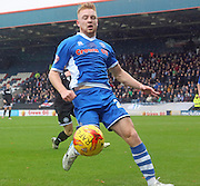 Callum Camps during the Sky Bet League 1 match between Rochdale and Wigan Athletic at Spotland, Rochdale, England on 14 November 2015. Photo by Daniel Youngs.