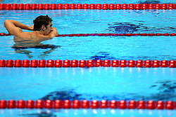 USA's Michael Phelps celebrates after winning gold in the Men's 4 x 200m Freestyle Relay Final, which secured him a record 19th Olympic medal, at the Aquatics Centre in the Olympic Park during the fourth day of the London 2012 Olympics.