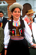 PERU, TRUJILLO, FESTIVALS Parade on the Plaza de Armas, portrait