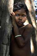 It is the tribal people caught in the middle that are the real losers of the war against the Naxalites. Many, such as this young tribal girl in Dantewada district, are poorly educated and malnutrished.