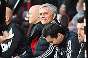 Manchester United manager Jose Mourinho before the Premier League match between Bournemouth and Manchester United at the Vitality Stadium, Bournemouth, England on 18 April 2018. Picture by Graham Hunt.