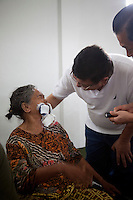 Eye Camp Padang Sidimpuan in North Sumartra Indonesia. Masia 75 Bi Laterally blind had both eyes operated on with some sight restored.