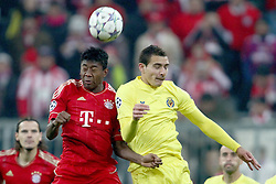 22.11.2011, Allianz Arena, Muenchen, UEFA CL, Gruppe A, GER, FC Bayern Muenchen (GER) vs FC Villarreal (ESP), im Bild kopfballduell zwischen David Alaba (Bayern #27) und Marco Ruben (Villarreal #9)  //during the football match of UEFA Champions league, group a, between  FC Bayern Muenchen (GER)  vs.  FC Villarreal  (ESP) Gruppe A, on 2011/11/22 at Allianz Arena, Munich, Germany. EXPA Pictures © 2011, PhotoCredit: EXPA/ nph/ Straubmeier..***** ATTENTION - OUT OF GER, CRO *****