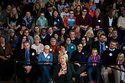 U.S. Democratic presidential candidate Hillary Clinton speaks during a town hall at Old Brick Church in Iowa City, Iowa December 16, 2015.