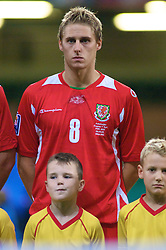 CARDIFF, WALES - Friday, September 5, 2008: Wales' David Edwards before the opening 2010 FIFA World Cup South Africa Qualifying Group 4 match against Azerbaijan at the Millennium Stadium. (Photo by Gareth Davies/Propaganda)