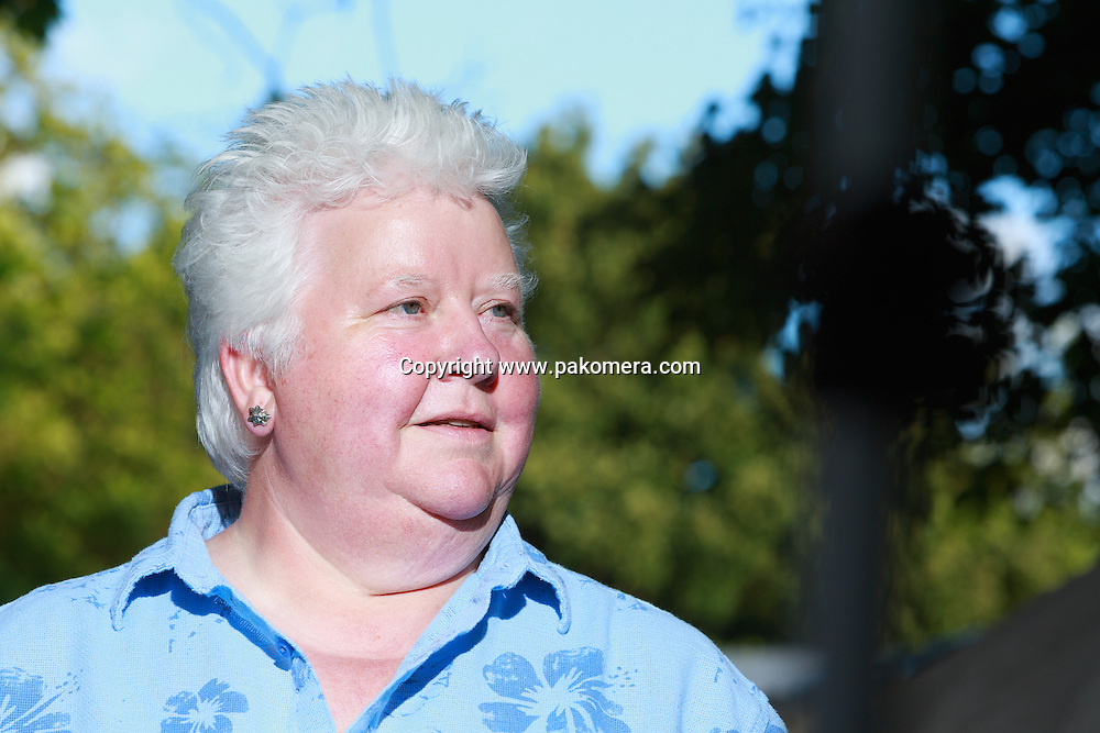 Edinburgh International Book Festival 2013 portait of Val McDermind at Charlotte Square Garden. Val McDermid is a Scottish crime writer. She attending the Edinburgh Book Festival promoving her new thiller, Cross and Burn.<br /> <br /> Pic by Pako Mera