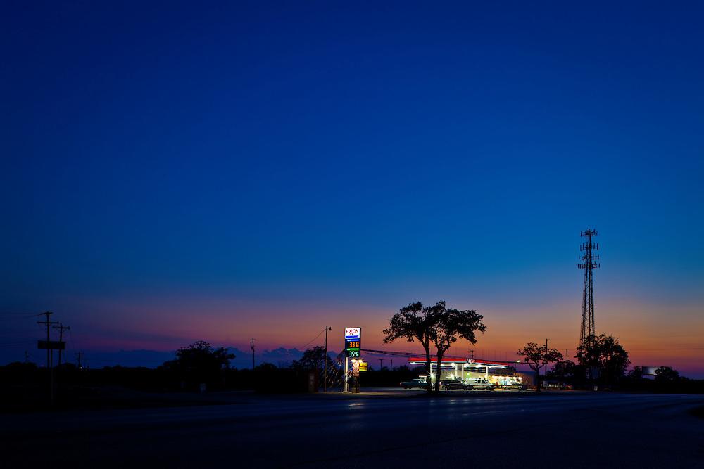 State Highway 71, Cedar Creek, Texas.