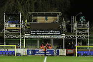 General view of the television gantry before the FA Cup match at the Cherry Red Records Stadium, Kingston<br /> Picture by David Horn/Focus Images Ltd +44 7545 970036<br /> 05/01/2015