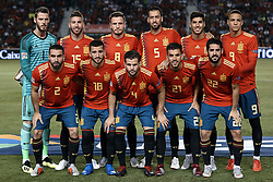 September 11, 2018 - Elche, Alicante, Spain - Spain team lines up prior to the UEFA Nations League A group four match between Spain and Croatia at Martinez Valero  on September 11, 2018 in Elche, Spain  (Credit Image: © David Aliaga/NurPhoto/ZUMA Press)