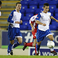 St Johnstone v Brechin City....Challenge Cup....25.09.07<br /> Kevin Moon drives forward<br /> <br /> Picture by Graeme Hart.<br /> Copyright Perthshire Picture Agency<br /> Tel: 01738 623350  Mobile: 07990 594431