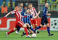 Milano, 23/02/2011<br /> Champions League/Champions League/Inter-Bayern Monaco<br /> Motta attacca Schweinsteiger