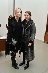 Left to right, GEMMA EBELIS and SOPHIE McELLIGOTT at a private view of Refraction. The Image of Sense held at Blain|Southern, Hanover Square, London on 9th December 2014.