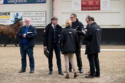 Jury, Stefaan Desmedt, Herman Van den Broeck, Inge Meurrens, Herman Bode, Maillart Daniel<br /> BWP Keuring - 3de Phase<br /> Hulsterlo - Meerdonk 2017<br /> © Hippo Foto - Dirk Caremans<br /> 16/03/2017
