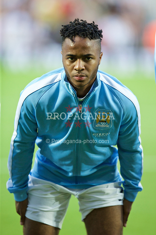WEST BROMWICH, ENGLAND - Monday, August 10, 2015: Manchester City's Raheem Sterling before the Premier League match against West Bromwich Albion at the Hawthorns. (Pic by David Rawcliffe/Propaganda)