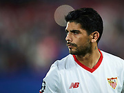 SEVILLE, SPAIN - NOVEMBER 01:  Ever Banega of Sevilla FC looks on priot to the UEFA Champions League group E match between Sevilla FC and Spartak Moskva at Estadio Ramon Sanchez Pizjuan on November 1, 2017 in Seville, Spain.  (Photo by Aitor Alcalde Colomer/Getty Images)
