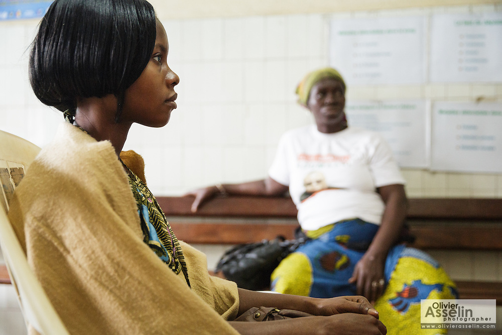 Marielle Gnabrayou Digbeto, 28, attends a counseling session at the Koumassi general hospital in Abidjan Cote d'Ivoire on Friday July 19, 2013. Marielle is pregnant with her first child and HIV positive. She's taking medicine for eMTCT.