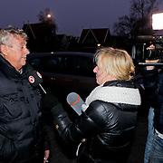 NLD/Volendam/20111117 - Huwelijksfeest nav huwelijk Jan Smit en Liza Plat, Jaap Buys word geinterviewd
