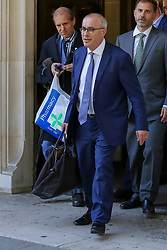 © Licensed to London News Pictures. 19/09/2019. London, UK. LORD DAVID PANNICK QC leaves UK Supreme Court in London at the end of the three day appeal hearing in the multiple legal challenges against the Prime Minister Boris Johnson's decision to prorogue Parliament ahead of a Queen's speech on 14 October. Since Tuesday 17 September, eleven instead of the usual nine Supreme Court justices have been hearing the politically charged claim that Boris Johnson acted unlawfully in advising the Queen to suspend parliament for five weeks in order to stifle debate over the Brexit crisis. It is the first time the Supreme Court has been summoned for an emergency hearing outside legal term time. Lady Hale, the first female president of the court who retires next January, has been preside the Brexit-related judicial review cases. Photo credit: Dinendra Haria/LNP
